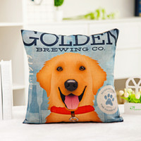 Wholesale couch pillow case covers - Lovely dog pillow cases Digital printing line couch pillowcase Home office square cushion cover Dog lover gift