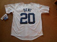 Wholesale stitch pins - Cheap custom Bucky Dent #20 New York White Pin-Stripe Baseball Jersey Stitched Customize any name number MEN WOMEN YOUTH Jerseys