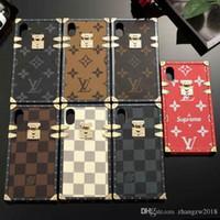 ремешки оптовых-Для iphone XS MAX чехол бренд дизайн телефона чехол для iphone 7 7plus 8 8plus 6 6S 6plus XR ТПУ силиконовая мягкая оболочка с шнуром