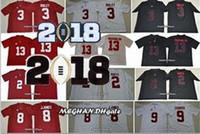 Wholesale Red Diamond Wine - Alabama Crimson Tide 13 Tua Tagovailoa 9 Bo Scarbrough 29 Fitzpatrick 2 Jalen Hurts 3 Ridley 2018 Championship NCAA Football Diamond Jerseys