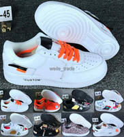 ingrosso aria forzata-nike air force 1 off New Forces di arrivo Mens Womens 1 Skateboarding Shoes one Designer Bianco Nero Fashion Casual Running Sneakers sportive Scarpe da ginnastica