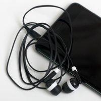 наушники fedex оптовых-Оптовая продажа-универсальный дешевый 100 шт. / лот Черный в ухо Наушники Наушники для iPhone 4 5 6 наушники MP3 MP4 3.5 мм аудио DHL FEDEX бесплатно