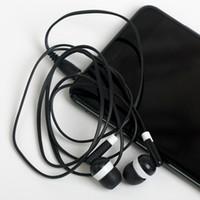 auriculares negros de manzana al por mayor-Al por mayor - Universal más barata 100PCS / LOT Auricular negro en la oreja para iPhone 4 5 6 Auriculares MP3 MP4 3.5mm Audio DHL FEDEX gratis