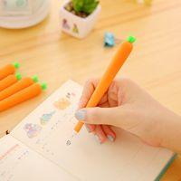 sevimli renkli kalemler toptan satış-Süper Sevimli Mini Havuç Şekli Tasarım Jel Kalemler Renkli Yenilik Komik Dolma Kalem Ofis Öğrencileri Kullanımı Için 0 51 kx Z
