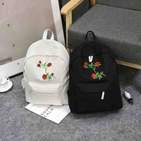 f2261469df Men Heart Canvas Backpack Women School Bag Backpack Rose Embroidery  Backpacks for Teenagers Women s Travel Bags Mochilas