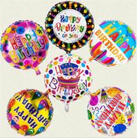 ingrosso palloncini misti-6 disegni mix ordine buon compleanno palloncini da 18 pollici gonfiabile aria ballons decorazioni bolla elio palloncino all'ingrosso per i bambini