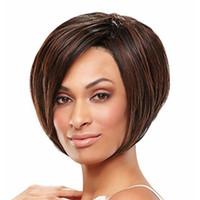 peluca marrón oscuro parte media al por mayor-12