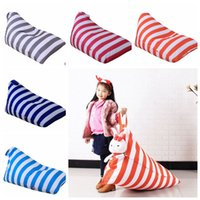 Wholesale bean bag chair for sale - Group buy kids Toy Storage Bag Stuffed Animal Organizer Kids Striped Storage Bean Bags Beanbag Chair Baby Sofa Chair Covers YW312