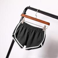 envío gratis para ropa femenina. al por mayor-Ropa de mujer Pantalones cortos que ejecutan pantalones cortos femeninos home yoga beach pantalones de estiramiento de las señoras del estiramiento ocasional de la aptitud del envío libre