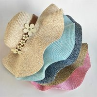 Spring And Summer Lady Outdoor Sun Visor Sun Hat Collapsible Lightweight  Simple Beach Church Cap Fashion Wide Brim Beach Hats 78bc ZZ 118554fc3942