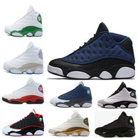 Wholesale Cats Shoes Woman - black cat Hyper Royal olive Wheat GS Bordeaux DMP Chicago men women basketball shoes 13 13s sports Sneaker Shoes 5-13