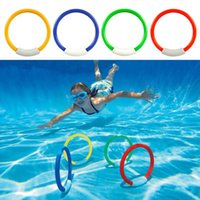 Wholesale kids diving toys for sale - Children Underwater Diving Rings Kids Water Play Toys Sport Diving Buoys Swimming Pool Accessories OOA4778