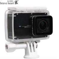 Wholesale Monopod Case - brave heart waterproof case bag + Extendable Monopod tripod selfie stick for xiaomi yi 4K 2 II Xiaoyi action Camera accessories