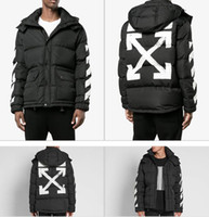 Wholesale Top Mens Suits Brands - New Fashion Of White Man Winter Men's Down Puffer Jacket Casual Brand Hoodies Down Parkas Warm Ski Mens Coats M-XL Top Quality