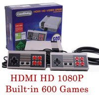Wholesale family classic - NEW HDMI HD Out Put Mini FC Video Game Console HD Edition Family Computer Built-in 600 Different Classic Games for Mini TV NES 3008036
