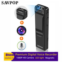 Wholesale full audio - SAWPOP Professional Premium Mini Digital Voice Video Recoder 1080P Full HD 1200MP Camera Strong magnetic adsorption Audio Recorder