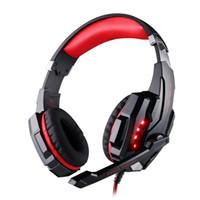 ingrosso presa della cuffia principale-Nuovo stereo Bass Game Headset Over Ear Gaming Headphone 3.5mm Jack con Mic LED Light per PS4 / Tablet / Laptop / Cell Phone con scatola al minuto