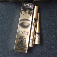 Wholesale Mascara Eye Liner - Brand Makeup Kylie Jenner Cosmetics Birthday Edition 3D Fiber Lashes Mascara+ Eyeliner 2 in 1 Eye Liner Waterproof Makeup Sets