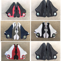 Wholesale rubber band child for sale - 13s Black Cats Toddler sneakers bred Flint Kids Basketball Shoes Infant big boy Girl Children Trainers With Box