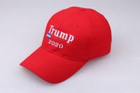 ayakları örten tozluk toptan satış-Parti Giyim Nakış Trump 2020 Amerika Tekrar Büyük Yapmak Donald Trump Beyzbol Kapaklar Şapkalar Beyzbol Kapaklar Yetişkinler Spor Şapka 3 Renk Sıcak