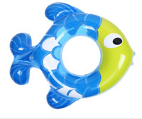 Wholesale baby tube pool resale online - Baby Fish Pool Float Swim Ring Toy Swimming Pool Floats Water Fun Party Tube Raft for Kids