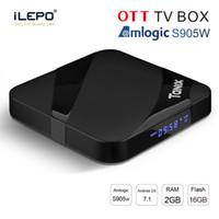 Wholesale google 3d box for sale - New android tv box GB GB Tanix TX3 MAX Amlogic S905W iptv box G WiFi BT4 P D media player