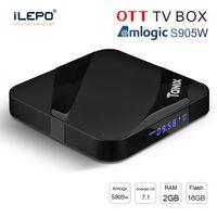 android tv media player 3d al por mayor-Nueva caja androide caja de la TV 2GB 16GB Tanix TX3 MAX Amlogic S905W reproductor multimedia WiFi 2.4G BT4.1 1080P 3D