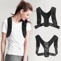 ingrosso uomini di correzione posteriore-Reggiseno postura regolabile supporto bretelle corpo corsetto indietro cintura brace spalla per uomini cura salute postura banda
