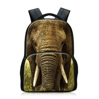 lindo grandes mochilas  al por mayor-Moda Animal Print School Mochila para niños de gran capacidad Laptop Bookbags para College Girls Cute Schoolbags BagPack para niños grandes