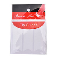наклейки для ногтей оптовых-1pack/48PCS DIY Line Tips White French Manicure Strip Nail Art Form Fringe Guides Sticker High Quality