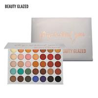 Wholesale earth powder resale online - BEAUTY GLAZED Color Eyeshadow Palette Cosmetics Pressed Powder Diamond Rainbow Earth Warm Color Shimmer Matte Eye shadow