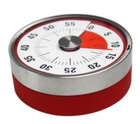 minutero al por mayor-Baldr 8 cm Mini herramienta de cocina de cuenta regresiva mecánica Acero inoxidable Forma redonda Tiempo de cocción Reloj Alarma Temporizador magnético Recordatorio C112