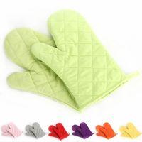 guantes para la cocina al por mayor-8 colores guantes de alta temperatura espesa cocina doble hornear barbacoa barbacoa con aislamiento acolchado guantes mitt resistente al calor B