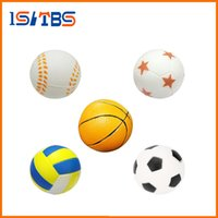 Wholesale Soft Football Toy - Squishy Toy Hand Football Basketball Baseball Exercise Soft Elastic Squuze Anti-Stress Ball Kid Small Ball Toy Adult Massage Squishy Toy