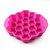 Wholesale Moulding Paste - Honeycomb Silicone Mold Silicone Ice Cream Cake Mould Kitchen Baking Gum Paste Chocolate Candy Decorating Tools 7 2bd Y