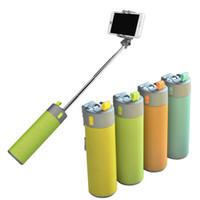 selbststichhalter großhandel-HESTIA 4 IN 1 Outdoor Tragbare Drahtlose Bluetooth Lautsprecher Energienbank + Selfie Stick Mit Handy-halter Ladegerät Audio freisprecheinrichtung
