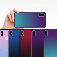Wholesale oppo for online - Laser Aurora Gradient Color Soft TPU Tempered Glass Phone Case Cover For iPhone X S Plus Huawei P20 Pro OPPO R15