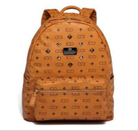 2016 Vintage Women Backpack Pu Leather School Bag For Teenagers Punk Rivet  Female Travel Bags Black Bolsos Mujer c7d46ef03c
