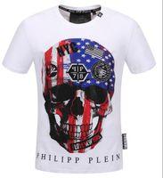 Wholesale product sleeve printing - Men Summer new product T Shirt Fashion Short Sleeve t-shirt Clothing Casual Skull Letter print Hip Hop new style Man t-shirt Clothin #18741