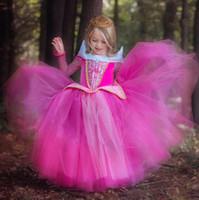 fantasia verão vestidos para meninas venda por atacado-Outono verão menina vestidos crianças dos desenhos animados princesa trajes de halloween fantasia chique crianças kids party dress meninas roupas para festa de natal