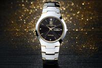 herrenuhren wolfram stahl großhandel-2017 neue Herrenuhren Top-marke Luxus Gold Wolfram Stahl männlichen ultradünnen Armbanduhr Auto Datum Quarz wasserdichte Uhr