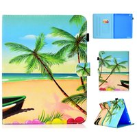 Wholesale screen printed bags online - Fashion Beach Sand Butterfly Wallet Leather Case For Ipad Air New Ipad Mini Pineapple Bike Boy Elephant Skin Cover