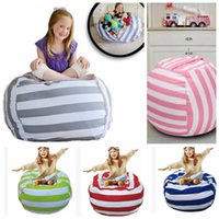 Wholesale Doll Chairs - 18 inch Storage Bean Bags Beanbag Chair Kids Bedroom Stuffed Animal Dolls Organizer Plush Toys Bags Baby Play Mat KKA4027
