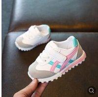 koreanische markenschuhe großhandel-Koreanische Version der Kinderschuhe der koreanischen Version des Frühlinges und der flachen neuen beiläufigen Schuhe der Kinder Sportschuhe Jungenmädchen runni