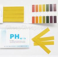 prueba de ph prueba de tira al por mayor-Hot 1 UNIDS 80 Tiras de Ácido Alcalino de pH Completo 1-14 Papel de Prueba Kit de Prueba de tornasol de Agua 031N 358A