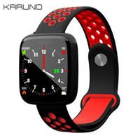 ingrosso allarme ossigeno sangue-KARUNO F15 Bluetooth Smart bracciale intelligente frequenza cardiaca pressione sanguigna ossigeno macchina fitness allarme messaggio promemoria