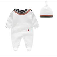 kıpkırmızı romper toptan satış-Erkek bebek giysileri yenidoğan bebek romper yaz pamuk kısa kollu kız romper Tulum Çocuklar Bebek Kıyafetleri Giysileri yenidoğan giyim 3M-12M 01