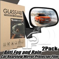 Wholesale protective film for cars - Car Rearview Mirror Protector Universal Auto Anti Fog Rainproof Rear View Mirror Window Clear Protective PTE Film For Car
