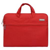 ultrabook dizüstü bilgisayar çantası toptan satış-Moda Evrensel Dizüstü Ultrabook Dizüstü Macbook Air Pro için Kılıf Kılıfı Kol Çantası (Kırmızı 11 inç)
