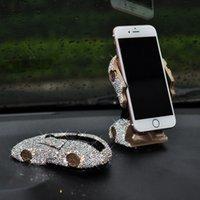 ingrosso iphone di forma dell'automobile-Bling Bling Sportscar Shape Car Holder telefono cellulare con cristalli Cruscotto Decorazione Ornamento GPS Stand per 4